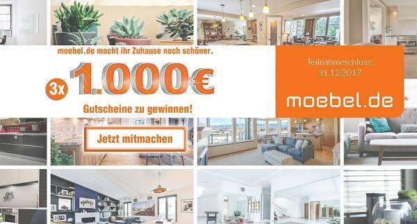 Möbel Gewinnspiel 1.000 Euro Gutschein