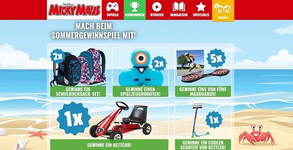 MIcky Maus Sommer Gewinnspiel 2017