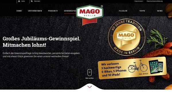 Mago Berlin Gewinnspiel E-Bike und Apple iPhone