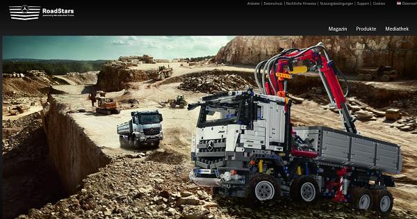 Mercedes Benz Roadstars Gewinnspiel Lego Arocs Bausatz