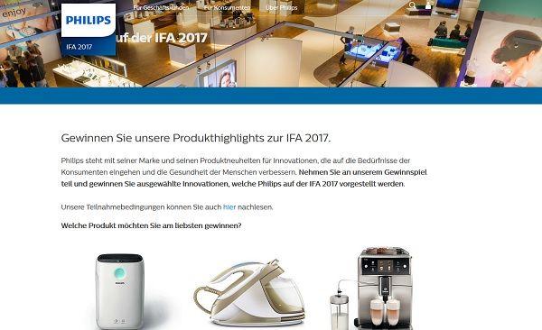 Philips IFA 2017 Gewinnspiel