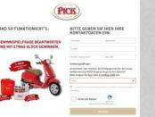 Pick Gewinnspiel Vespa Motorroller 2017