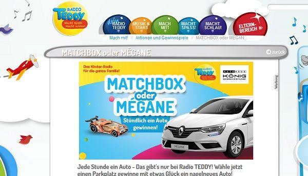 Radio Teddy Auto Gewinnspiel Renault Megane 2017
