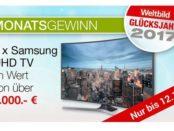 Wektbild Gewinnspiel Samsung UHD TV 2017