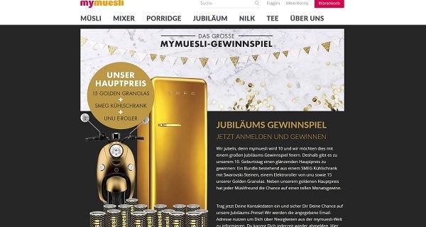mymüsli Gewinnspiel E-Roller und SMEG Kühlschränke 2017