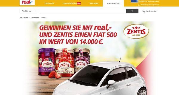 real Gewinnspiel Fiat 500 Zentis
