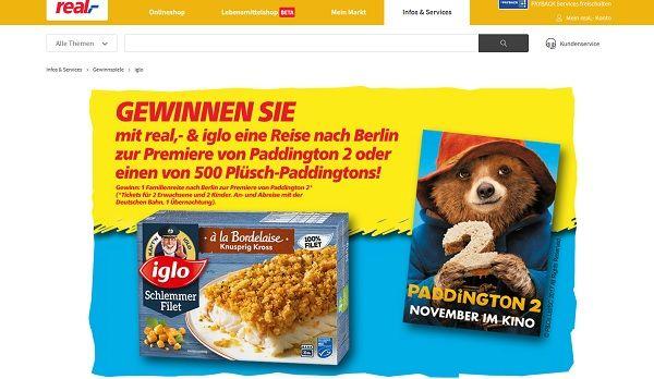 real Gewinnspiel Iglo Berlin Reise 2017