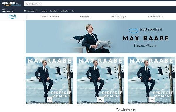 Amazon Gewinnspiel Max Raabe Meet&Greet 2017