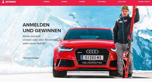 Atomic Audi S3 Gewinnspiel 2017