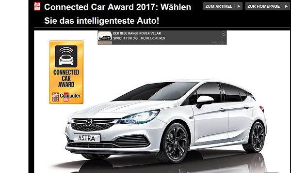 Auto Bild Gewinnspiel Connected Car Award 2017