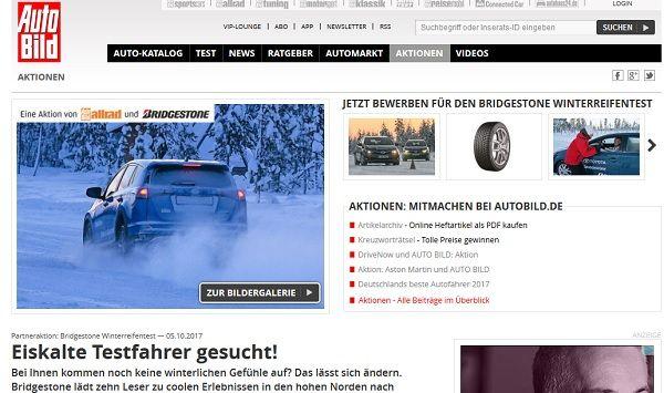 Auto Bild Gewinnspiel Finnland Reise Winterreifentest 2017