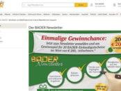 Bader Versand Gewinnspiel 200 Euro Gutscheine 2017