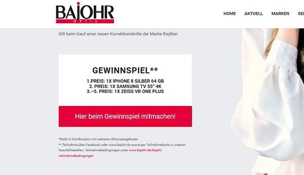 Bajohr Gewinnspiel Apple iPhone 8