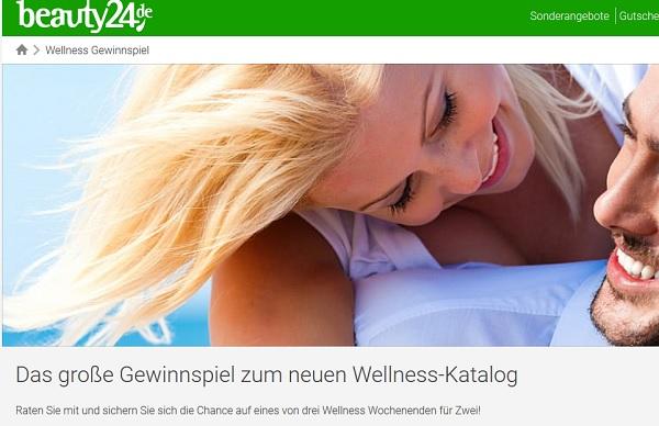Beauty24 Gewinnspiel Wellness Reise