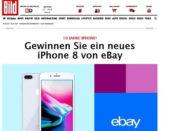Bild und ebay Apple iPhone X Gewinnspiel 2017