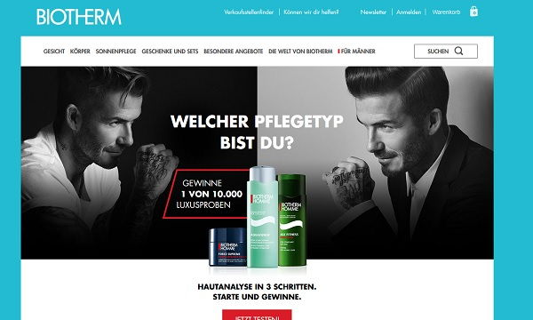 Biotherm Gewinnspiel 10.000 Luxusproben Männer