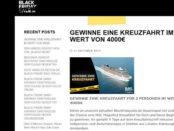 Black Friday Sale Kreuzfahrt Reise Gewinnspiel 2017