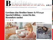 Brigitte Gewinnspiel Brother Nähmaschine 2017