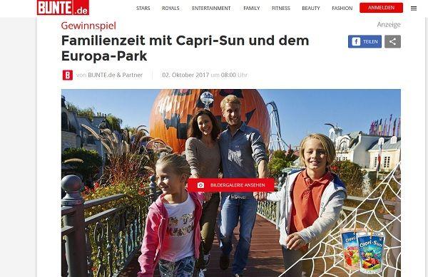 Bunte Gewinnspiel Capri Sun Europa-Park 2017