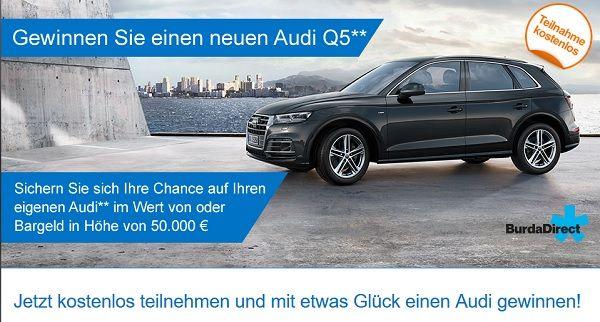 Burda Auto Gewinnspiel Audi Q5 oder 50.000 Euro Bargeld