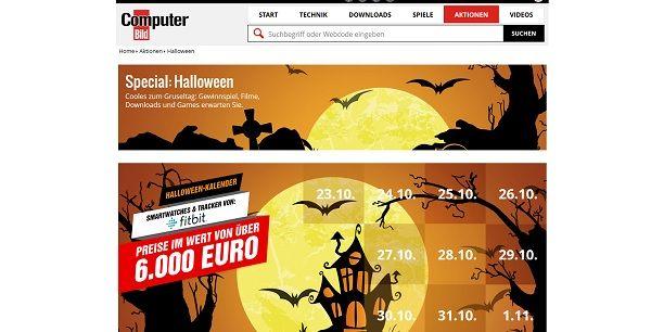 Computer Bild Halloween Kalender Gewinnspiel 2017