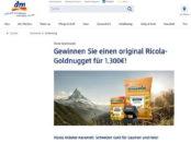 DM Ricola Gewinnspiel Goldnugget 2017