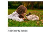 Die Tier Welt Gewinnspiel internationaler Tag des Hasen 2017