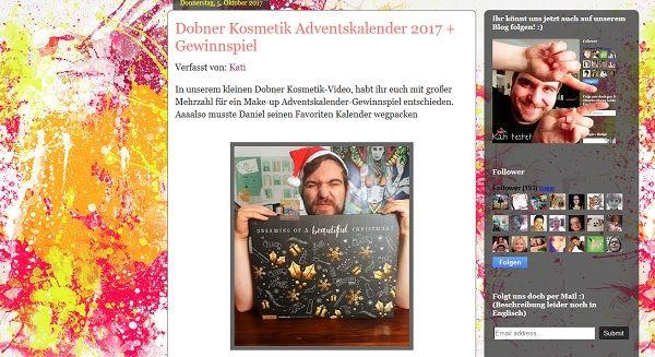 Dobner Adventskalender Gewinnspiel Kati und Daniel testen 2017