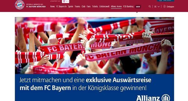 FC Bayern München Gewinnspiel Reise Champiosn League