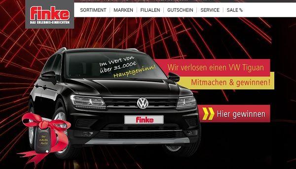 Finke Auto Gewinnspiel VW Tiguan 2017