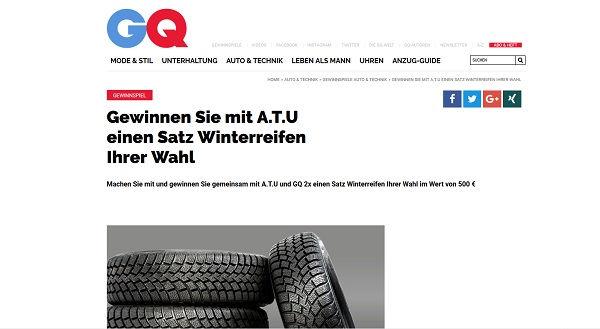 GQ Magazin Gewinnspiel ATU Winterreifen 2017