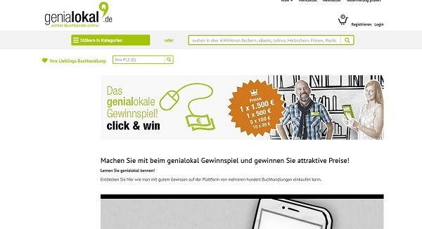 Geld Gewinnspiel genialokal.de