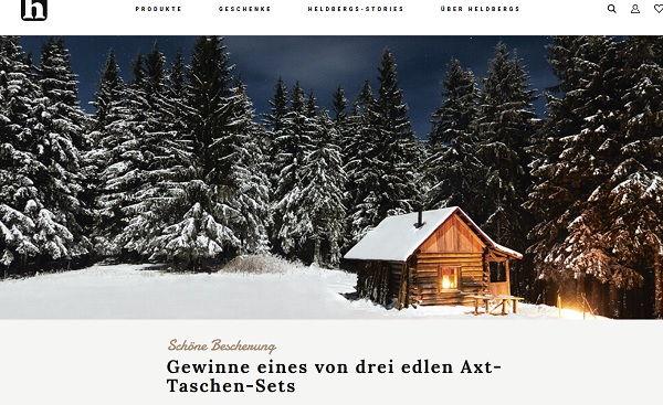 heldberg versand weihnachts gewinnspiel 3 axt sets. Black Bedroom Furniture Sets. Home Design Ideas