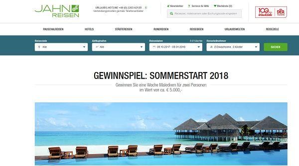 Jahn Reisen Malediven Urlaub Gewinnspiel 2017