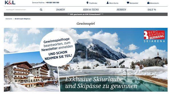 K&L Rupper Skiurlaub Gewinnspiel 2017