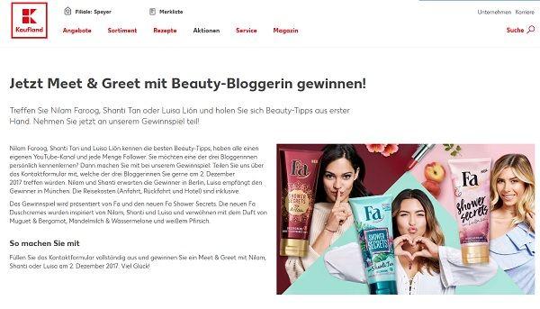 Kaufland Gewinnspiel Beauty Bloggertreffen