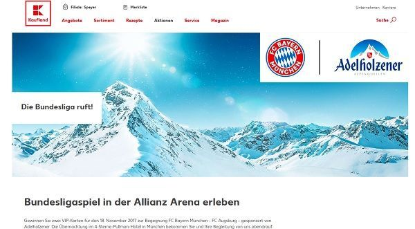 Kaufland Gewinnspiel FC Bayern München - FC Augsburg