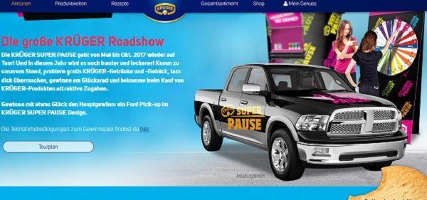 Krüger Auto Gewinnspiel Ford Pick-up 2017
