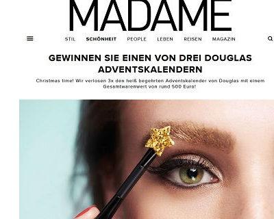 Madame Douglas Adventskalender Gewinnspiel 2017