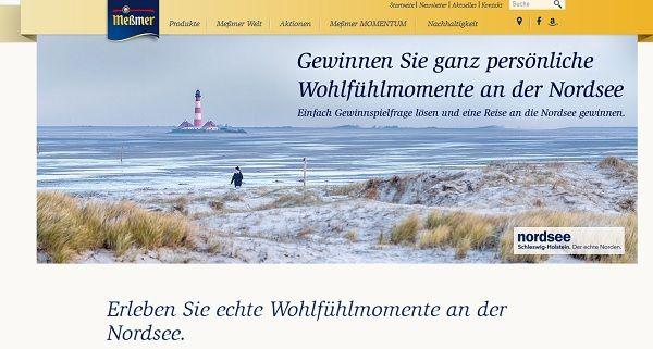 Meßmer Tee Gewinnspiel 10 Nordsee Reisen 2017