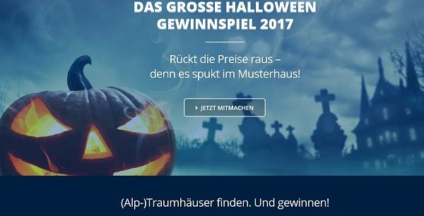 Musterhaus Halloween Gewinnspiel 2017