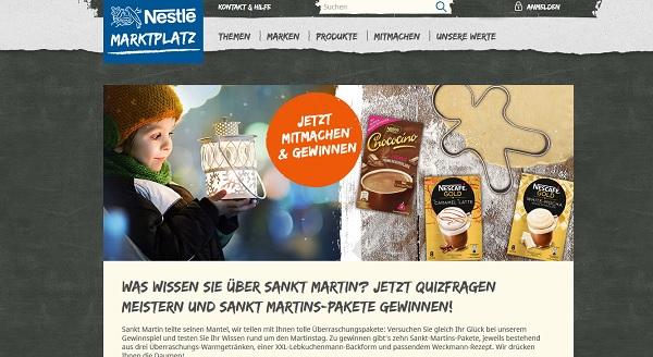 Nestle Marktplatz Sankt Martin Gewinnspiel 2017