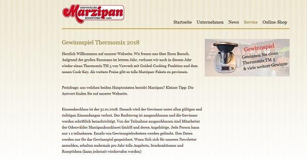 Odenwälder Marzipan Gewinnspiel Thermomix 2017