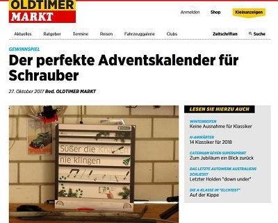 Oldtimer Markt Adventskalender Gewinnspiel Stahlwille