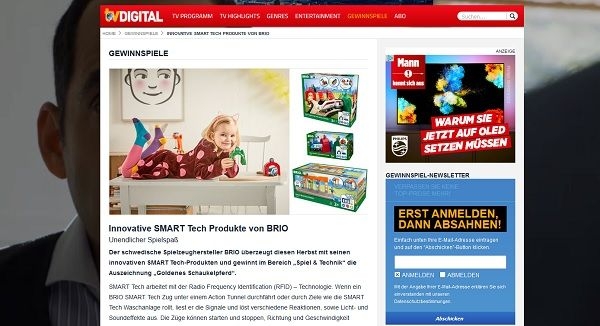 TV Digital Gewinnspiel Brio Spielsachen 2017