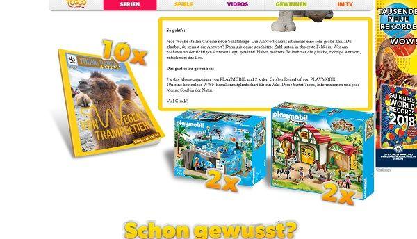 Toggo Gewinnspiel Playmobil Sets 2017
