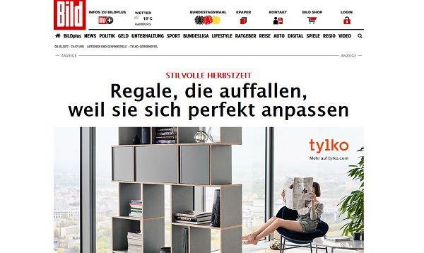 Tylko Möbel Gewinnspiel bild.de 2017
