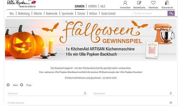 ulla popken halloween gewinnspiel kitchenaid artisan k chenmaschine. Black Bedroom Furniture Sets. Home Design Ideas