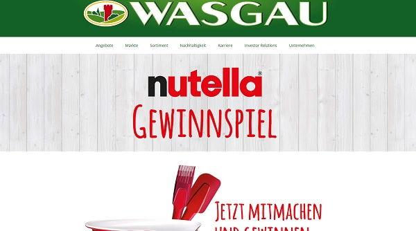 Wasgau Nutella Gewinnspiel Backsets