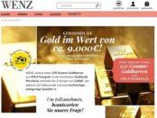 Wenz Versand Gewinnspiel Goldbarren gewinnen 2017